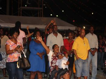 Patrons seen enjoying performances at the 2017 Gospel Fest which was held on Sunday July 30, 2017. Photo: VINO