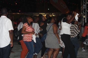A section of the crowd dancing to music by Tarrus Riley. Photo: VINO