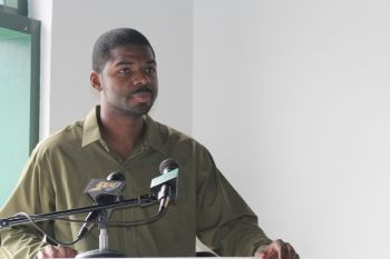 Wheatley in a poem showered the HE McCleary with commendations as he and his colleagues of the BVI Reading Council's (BVIRC) Dads Reach Out reading programme said farewell to the McCleary family as they prepare to make their exodus from the Virgin Islands. Photo: VINO
