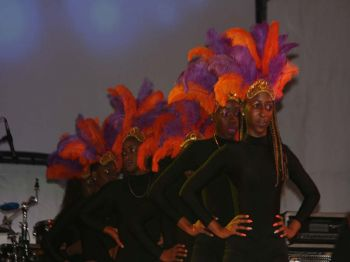 Royal G. Dancers during their performance at the opening of the Emancipation Festival Village on Monday July 31, 2017. Photo: VINO
