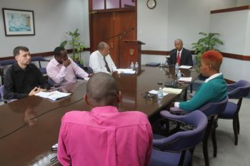 In the limited time alloted to the Premier to spend with reporters of the Virgin Islands, the territory's leader spoke of three developments: the Prospect Reef Development Project, the publishing of a new government magazine and developmental plans for the Queen Elizabeth II Park. Photo: VINO
