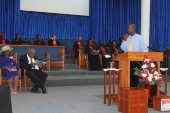 The call for the church to take back its position was made at a special service held by the Upper Room Victory Church on November 17, 2013. Photo: VINO