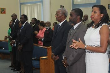 The challenge was made in the presence of several leaders of the Virgin Islands, including the Premier and Minister of Finance Dr the Honourable D. Orlando Smith. Photo: VINO