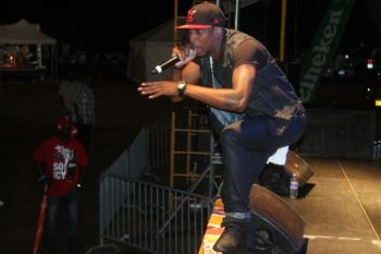 Tian Winter during his first ever stage show in the Virgin Islands. Photo: VINO