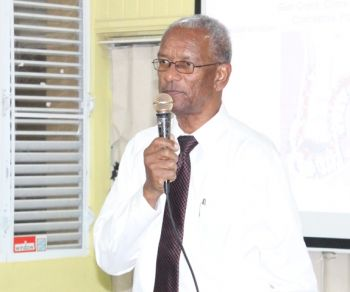 Premier Dr the Honourable D. Orlando Smith stated that Mr David Victor Johnson will have nothing to do with the proposed land development at Gun Creek. Photo: VINO