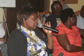 Permanent Secretary within the Premier's Office Ms Rosalie Adams was also present at the Carrot Bay Community Development Project discussion with residents. Photo: VINO