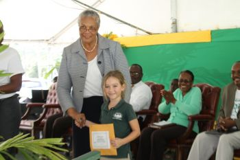 Arbour Day poetry competition winner 5-8 category, Asia Downing. Photo: VINO