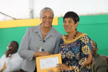 Arbour Day poetry competition winner adult category Ms Diana Stewart-Walker. Photo: VINO