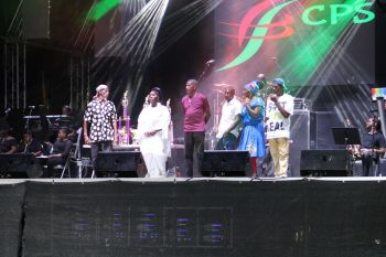 Contestants of the Calypso Competition held as part of the 65th Virgin Islands Emancipation Festival. Photo: VINO