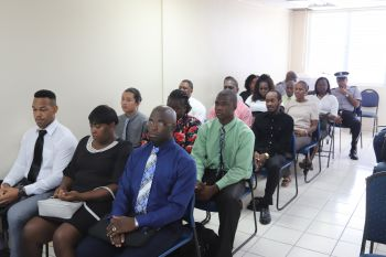 Eight males and seven females along with one Auxiliary Officer will now make up the fourth cohort for on-island recruit training being coordinated by the Royal Virgin Islands Police Force (RVIPF). Photo: RVIPF