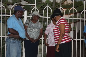 The community meeting was attended mainly by the elderly folks of the community. It is the hope that the messages from the meeting would meet those who remained in their homes. Photo: VINO
