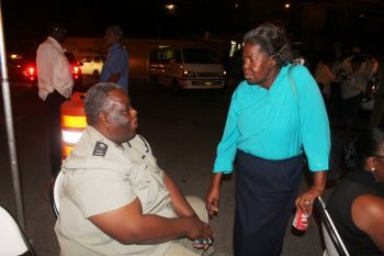 Acting Deputy Commissioner of Police Mr Roy Stoutt said residents of Long Look can look forward to seeing a lot more of him as he will be making his presence felt as the RVIPF seeks to become a friend of society in its quest to serve and protect. Photo: VINO