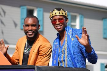 Mr Caribbean 2019 Mr Yohance T. Smith, right. Photo: VINO