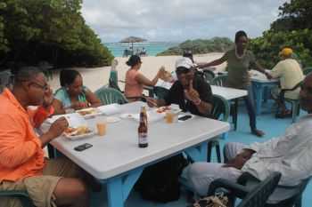 Scene of Virgin Islands' Anegada Lobster Festival 2013. Photo: VINO