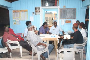Members of the local media were introduced to the new executives of the BVI Taxi Association last evening December 4, 2013. Photo: VINO