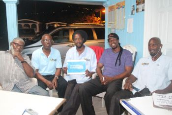 Newly elected president of the BVI Taxi Association (BVITA) Mr Karl 'Dub' Scatliffe (2nd from right) also acknowledged that the association faces a lot of criticisms from commuters, which he said are attributed to the fact that the BVITA is one of the most centrally located. His view was supported by other members of the BVITA. Photo:VINO