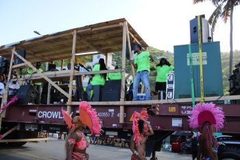 Local band VIBE performing during the August Monday Monday Parade in Road Town on August 5, 2019. Photo: VINO