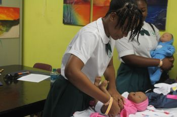 The Baby Think It Over programme can only be implemented by trained staff. Photo: VINO
