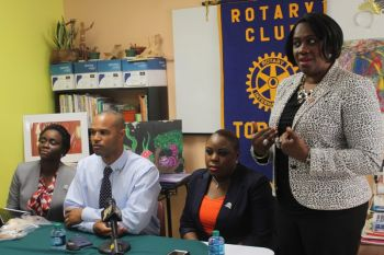 According to the Public Relations Director for Rotary Club of Tortola, Ms Lynette L. Harrigan, Elmore Stout High School is next for the programme. Photo: VINO