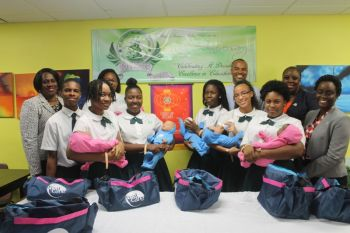 St George's Secondary School takes the lead with the Rotary Club of Tortola's Baby Think it Over programme. Photo: VINO