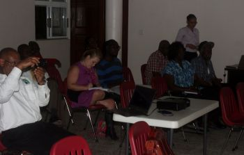 Members of the audience during the presentation. Photo: VINO