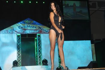Miss Cuba – Daniela Garcia in her swim wear but did not place in any of the categories. Photo: VINO