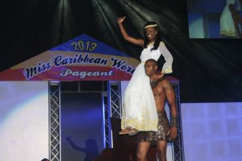 Miss BVI Sharie B. deCastro in talent. Photo: VINO