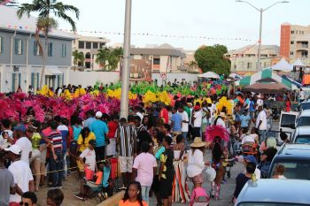 A sea of colourful revellers! Photo: VINO