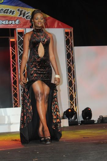 Miss Trinidad & Tobago – Sonia Millington in her gown. Photo: VINO