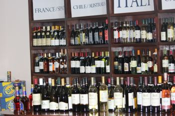 The new retail section boasts a wide variety of wines & spirits. Photo: VINO