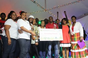 Prize winners at the Grand Clash of the Carolers staged at the Sir Olva Georges Plaza on December 7, 2013. Photo: VINO