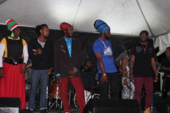 The team of local artists that performed at the show on Sunday March 1, 2015. Photo: VINO