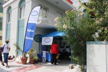 Caribbean Insurers Limited facilitated free health checks for its many customers and the general public eariler today, May 28, 2013 outside of its office located next to Cutlass Tower or what most people refer to as the 'Patsy Lake building' on Waterfront Drive in Road Town. Photo: VINO