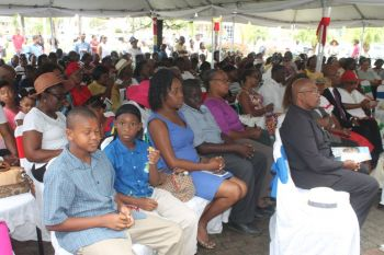 Section of the audience yesterday, March 2, 2015, at the ceremony held at the Central Administration Complex. Photo: VINO