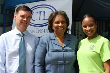 CIL Directors. From left to right: Mr Brian Jermyn, Ms Arleen Parsons and Ms Jacqueline Malone at the health screening exercise today May 28, 2013. Photo: VINO