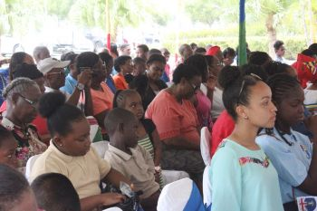 Some of the persons in attendance at Territory Day Celebrations on July 1, 2016. Photo: VINO