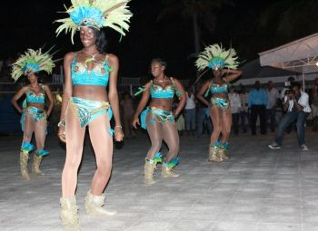 These dancers gave an early feel of 2013 Virgin Islands Emancipation Festival. Photo: VINO