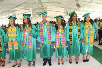 Shining moment for the 2016 Class of the BVI Seventh-day Adventist School. Photo: VINO