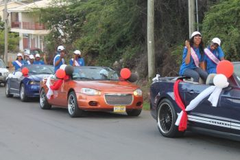 Contestants of the Jr Mr & Miss BVI Pageants joined the Delta Petroleum/NP motorcade on July 7, 2016. Photo: VINO