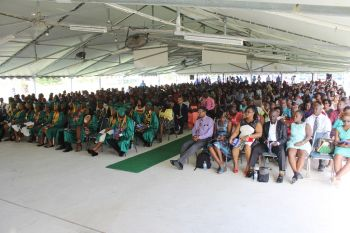A large number of persons attended the graduation ceremony of the BVI Seventh-day Adventist School on July 3, 2016. Photo: VINO