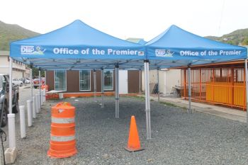 The four tents sponsored by the office of the Premier for the new look market place. Photo: VINO