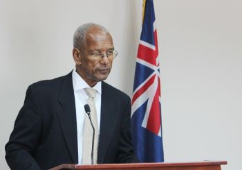 Premier Dr The Hon D. Orlando Smith the press conference at Office of the Premier today, July 18, 2016. Photo: VINO