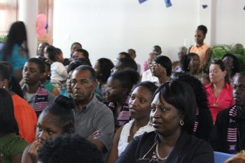 A section of the audience at the graduation ceremony. Photo: VINO