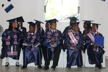 The Isabella Morris Primary School graduating class of 2013. Photo: VINO