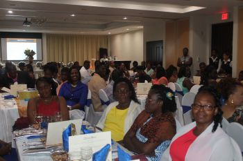 Some of the many persons who attended the 50th anniversary banquet of Simmonds Preschool Ltd at Maria's By the Sea on July 20, 2016. Photo: VINO