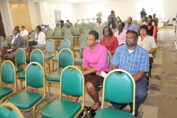Mr Gaskin chose the occasion of the CSA Forum held on May 24, 2013 at Maria's by the Sea to speak his mind as he was prompted by the poor turnout of participants of members and other invitees at the Forum. Photo: VINO
