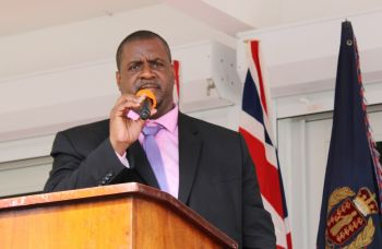Premier and Minister of Finance Honourable Andrew A. Fahie (R1) during his budget presentation on November 19, 2019 said enforcement of laws against illegal dumping will be a priority immediately. Photo: VINO/File