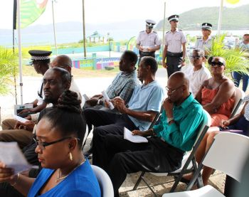 Some of the persons at the re-opening ceremony of the West End Police Station on August 15, 2019. Photo: VINO