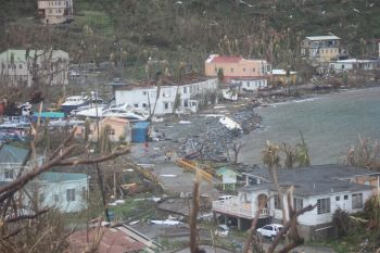 Hurricane Irma wreaked havoc on the Virgin Islands on September 6, 2017, leaving many homeless, without food, clothing and water. Photo: VINO/File