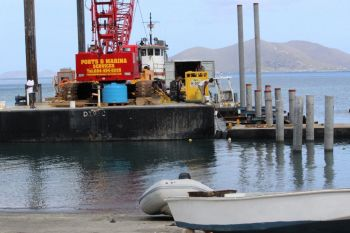 Works ongoing for the Carrot Bay Fisherman's Dock recently awarded. Photo: VINO
